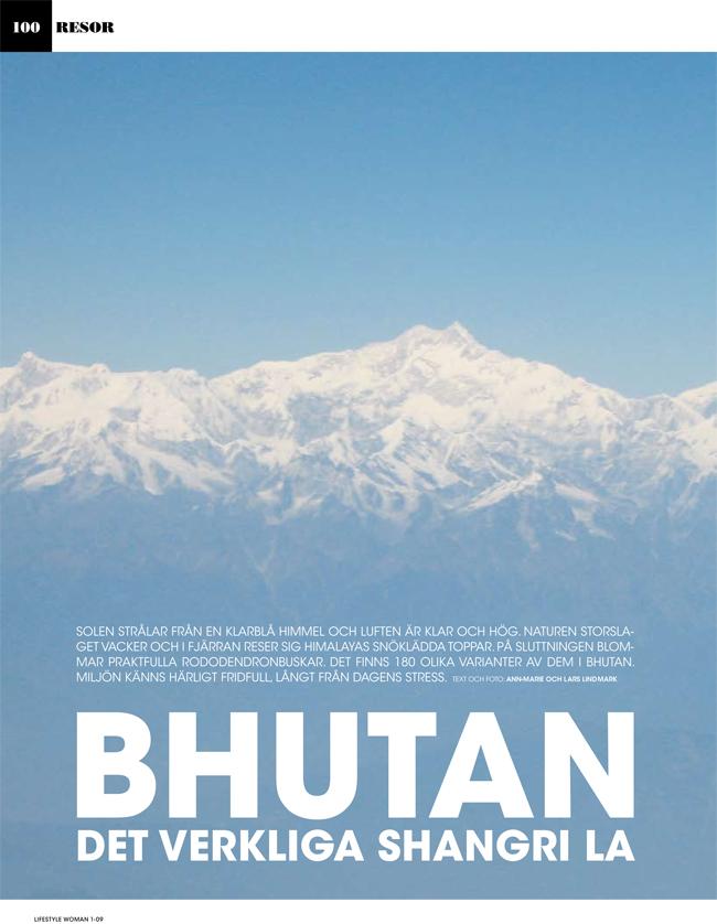 Lifestyle Woman. Bhutan - Ann-Marie och Lars Lindmark