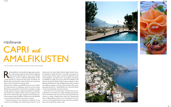 Italien i Lifestyle Golf Magazine - Lars och Ann-Marie Lindmark