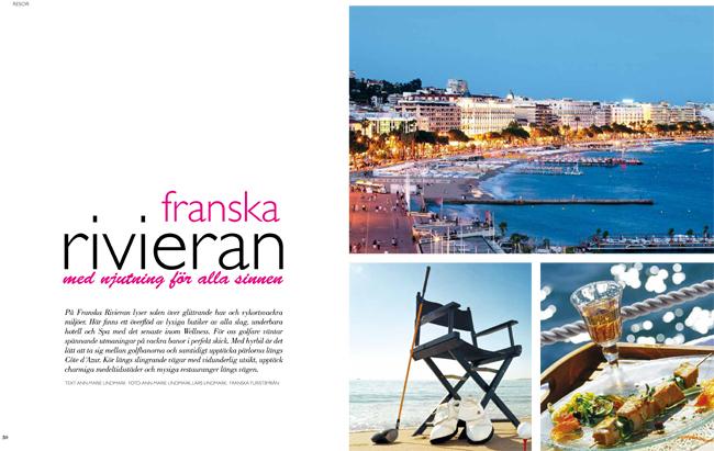 Franska rivieran i Lifestyle Golf Magazine - Lars och Ann-Marie Lindmark