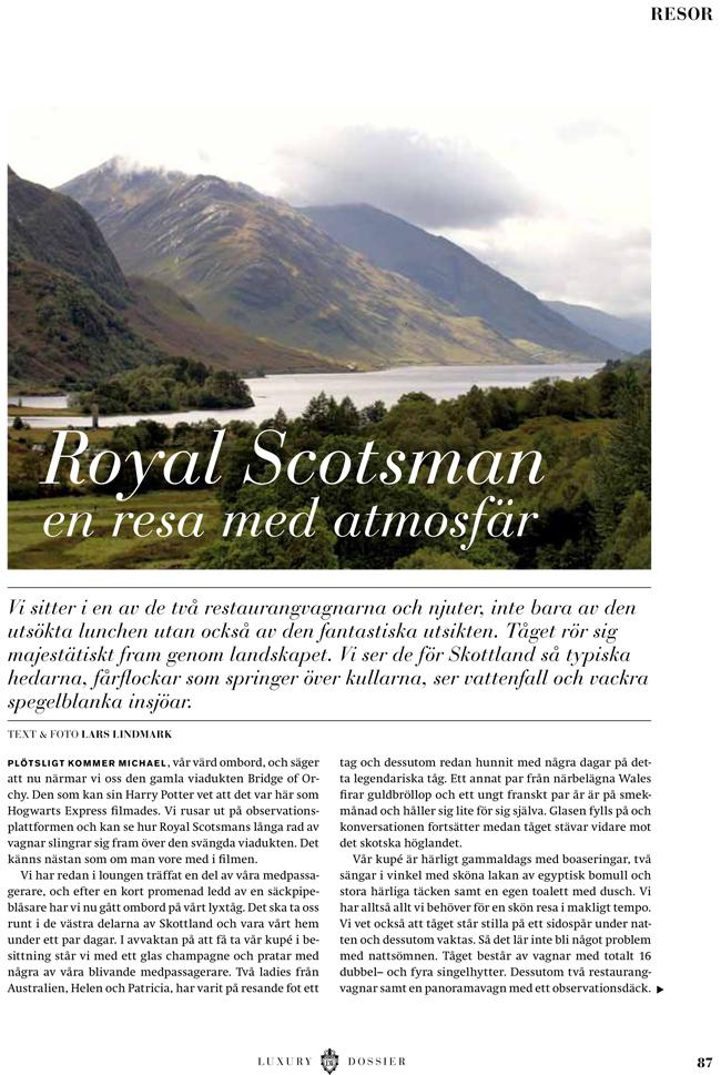 Royal Scotsman i Lifestyle - Lars Lindmark