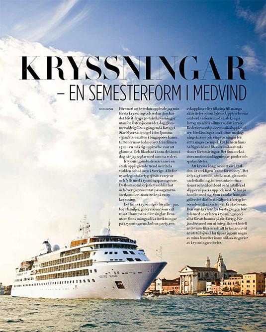 Kryssningsbilaga i Voyage 2016. Lasse och Ann-Marie Lindmark